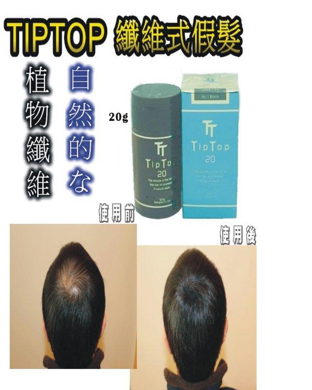 TipTop 瓶裝 20g 纖維式假髮 附著式纖維假髮 稀疏 .(黑色深咖啡色)有補充包可選購