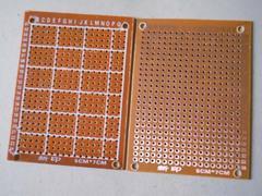 [含稅]萬能板萬用板洞洞板電木板pcb電路板麵包板實驗板 7*9釐米