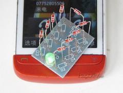 [含稅]手機來電感應提示提醒閃燈 電磁場輻射檢測儀 電子diy製作pcb套件