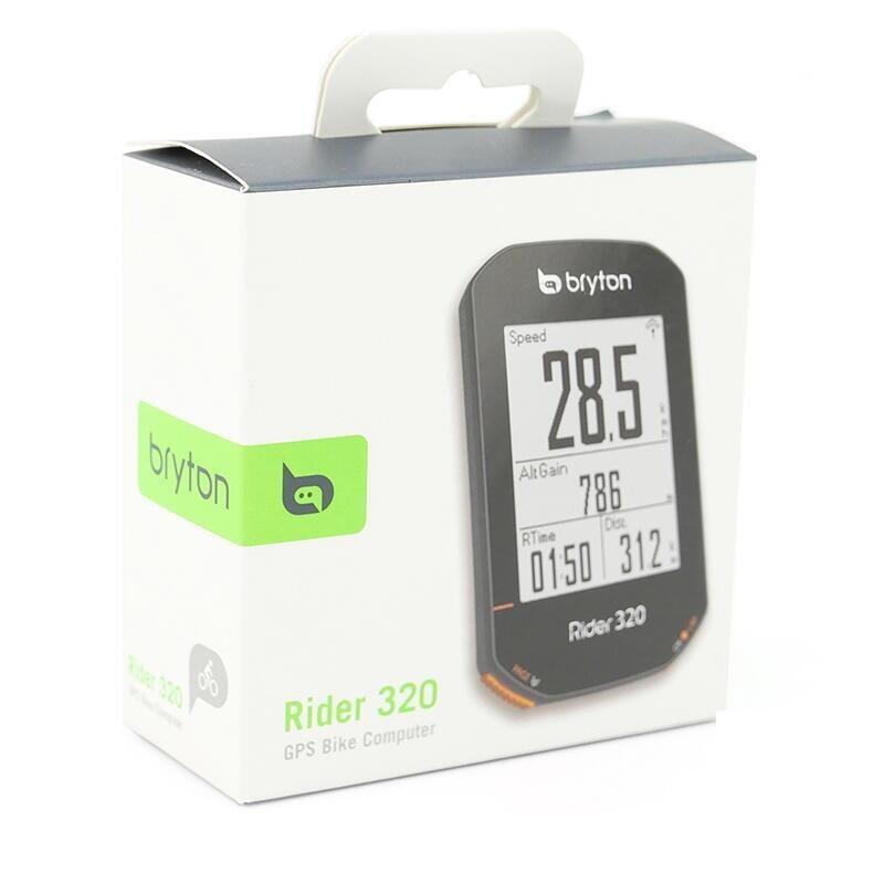 Bryton Rider 320E 支援ANT+和藍芽 GNSS全球衛星地圖 72+數據 支援踏板式功率計