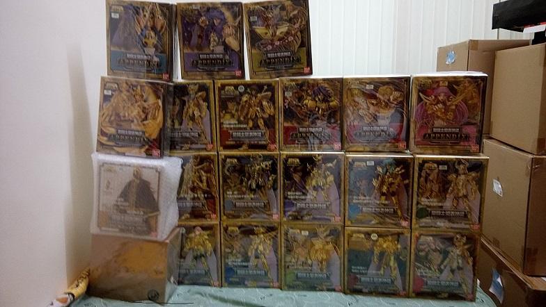 聖衣神話 代理版 黃金聖鬥士 (黃金12宮+黑.白袍教皇+胸像七盒) 共21盒  請看底下說明