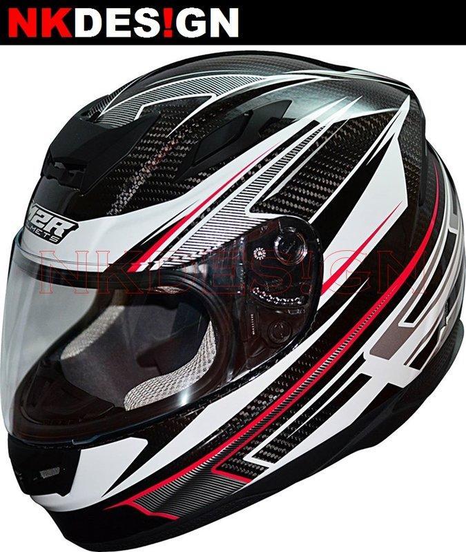 NK的店:免運 M2R XR-3 碳纖維 彩繪 黑 / 紅 輕量化 全罩 安全帽 XR3