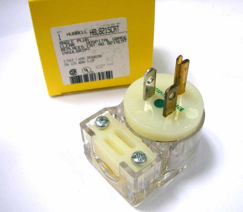 美國 HUBBELL HBL8215CAT 90度(L型)  NAME 5-15 15A 125V/110V 醫療級插頭