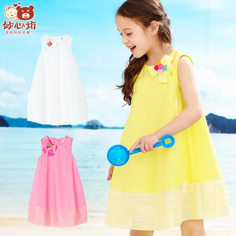 兒童連衣裙無袖純棉寶寶裙子 妙心坊2016夏季新款女童裝公主裙