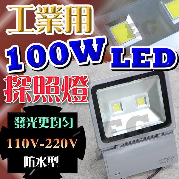 光展 保一年 工業用防水型100W LED 探照燈 110V/220V 100瓦 戶外 工廠 烤肉 野營 大型活動 步道