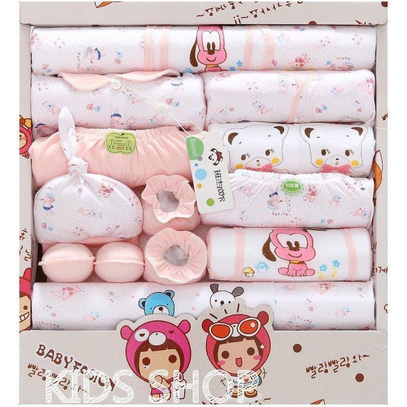 ❤18件套春夏纯棉新生兒❤初生、满月寶寶、服裝用品、嬰兒禮盒
