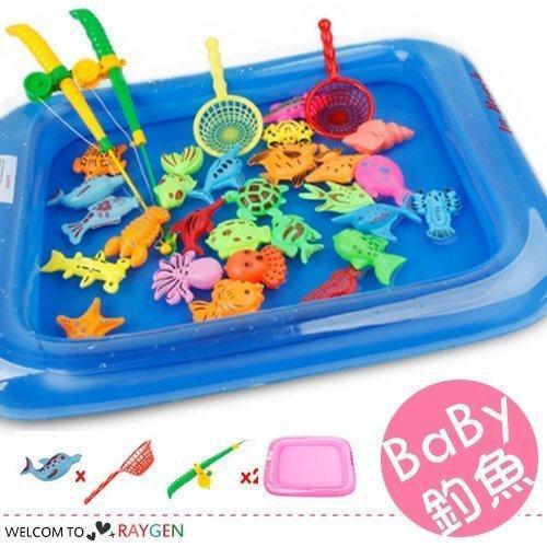 八號倉庫【1E130P133】夏季寶寶戲水磁性釣魚26件組 益智玩具