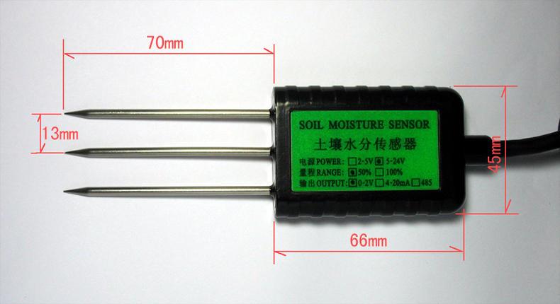 [工業級]三合一 土壤濕度感測器溫度+電導率 三路0-2V輸出 2-5V供電 IP68防水 農業溫室大棚 智慧農業4.0