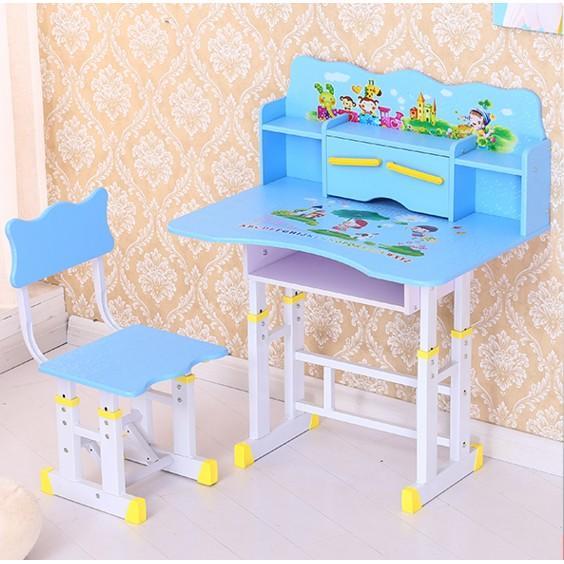 兒童學習桌可升降寫字桌小孩書桌學生課桌椅套裝組裝寫字臺(限宅配)