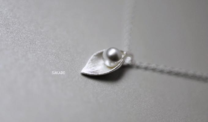925純銀戒指-阪堂SAKADO-韓版設計師款 珍珠葉子