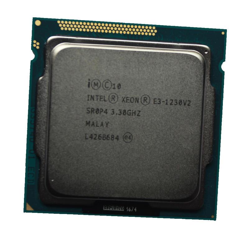 Intel Xeon E3-1230 V2 3.3G 8M 4C8T 1155 正式版 CPU 效能近i7-3770