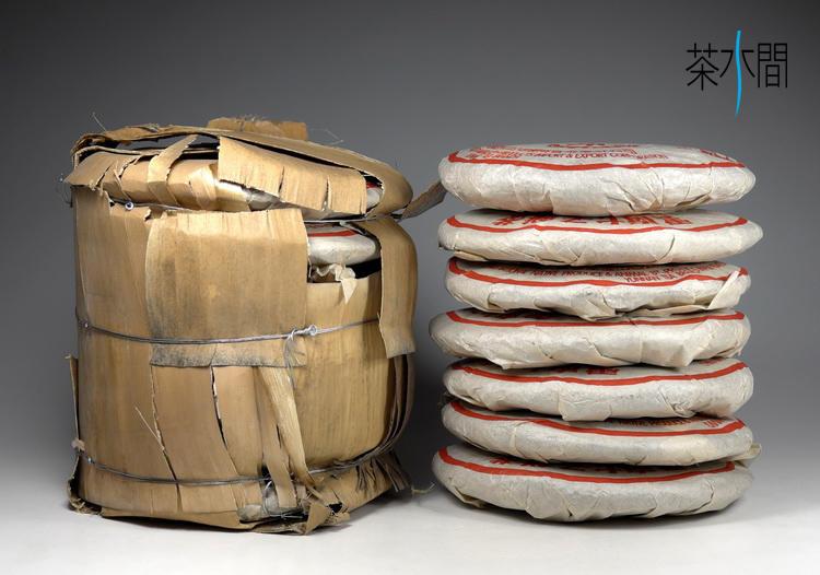 茶水間/75-紅印銷藏餅/陳年普洱茶餅/熟茶/通過農藥殘留檢驗/一定瘦作者推薦
