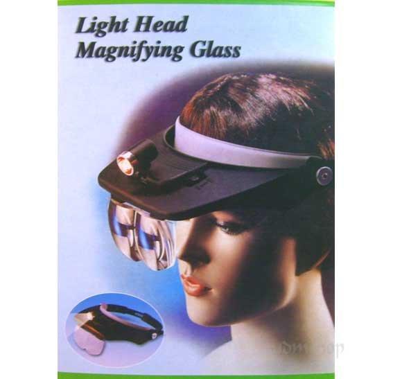 帽型 頭戴式 放大鏡 附照明燈光/ 附四種倍率鏡片可換/ 帶燈放大鏡 頭盔型 頭戴放大鏡/觀察細微物■30473■