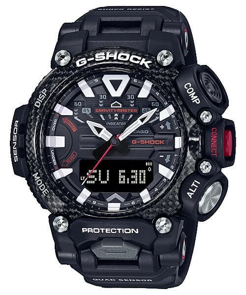 CASIO手錶專賣公司貨附發票G-SHOCK飛行藍芽錶 方位、高度/氣壓、溫度與計步計GR-B200-1A