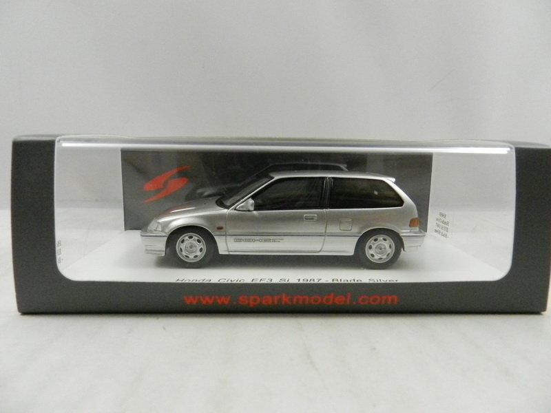 《烈馬驛站》1/43 STC Honda Civic EF3 Si 1987 銀色 (Spark)樹脂