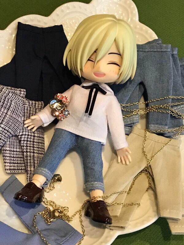 蘇蘇手作-OB11 、 好微笑 、黏土人 娃衣 文青風窄褲 多色 長度 皆可訂製