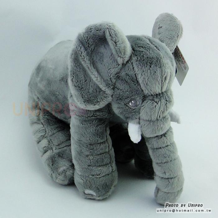 灰色 大象 絨毛 娃娃 玩偶