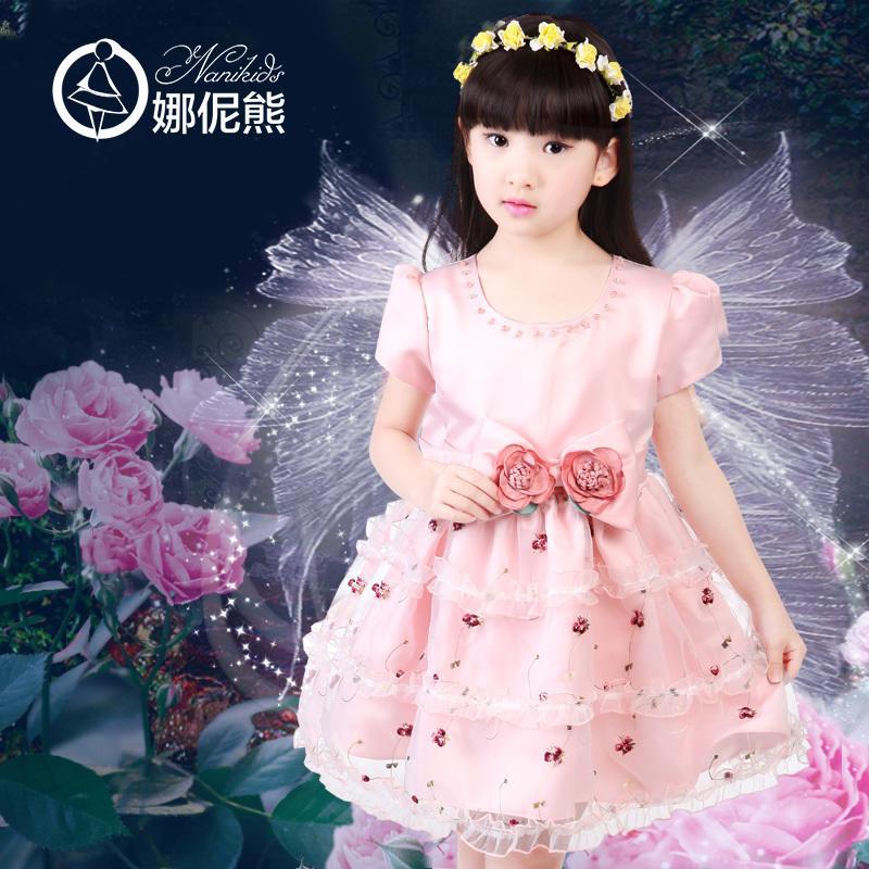 2016夏季新款5女童裝6連衣裙7中大童8短袖裙子9公主裙12歲15純棉