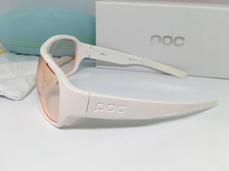 二手 9成新 POC 白色 卡爾蔡司光鏡片