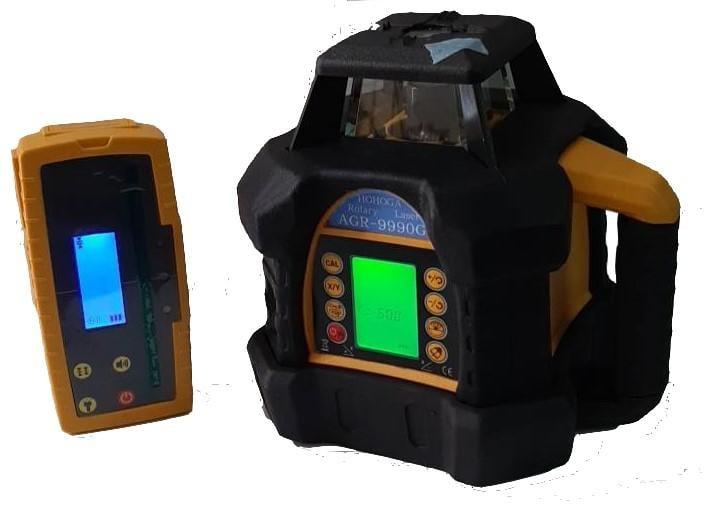 (南台測繪)HOHOGA防摔型AGR9990G 液晶旋轉雷射 電子式自動整平水平儀 輕鋼架 整地(最新版綠光)