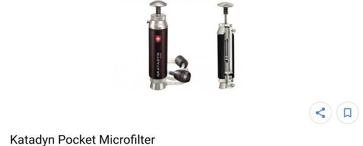 【凱文杯杯】 Katadyn Pocket瑞士國寶級攜帶型濾水器/淨水器,濾芯耗材永久成本價供應