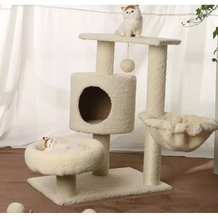 玩具寵物貓爬架用品貓抓板發貨當天貓窩貓樹(現宅配)