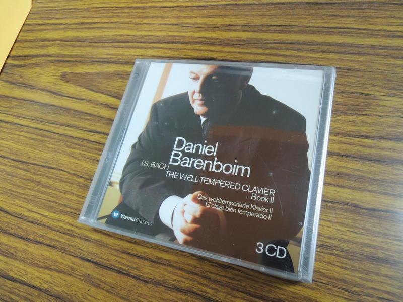 Q1910-早期歐洲版3CD未拆】巴倫波英-巴哈平均律鋼琴曲第二集-Daniel Barenboim:J.S.BACH-