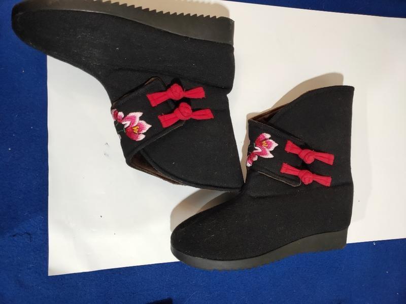 女繍花保暖靴37