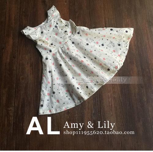 2016夏季新款童裝兒童純棉碎花連衣裙女童背心裙子