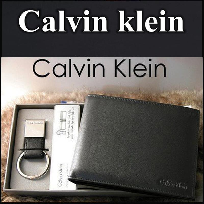 【禮盒包裝】CK專櫃正品錢包 Calvin Klein零錢袋款真皮錢夾 CK錢包 名片夾 禮盒包裝+贈送鑰匙圈