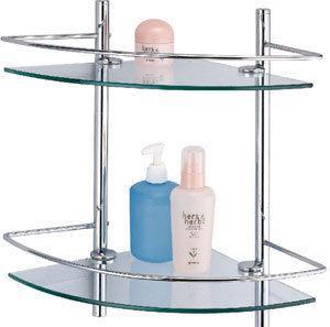置物架/多用途二層強化玻璃置物架