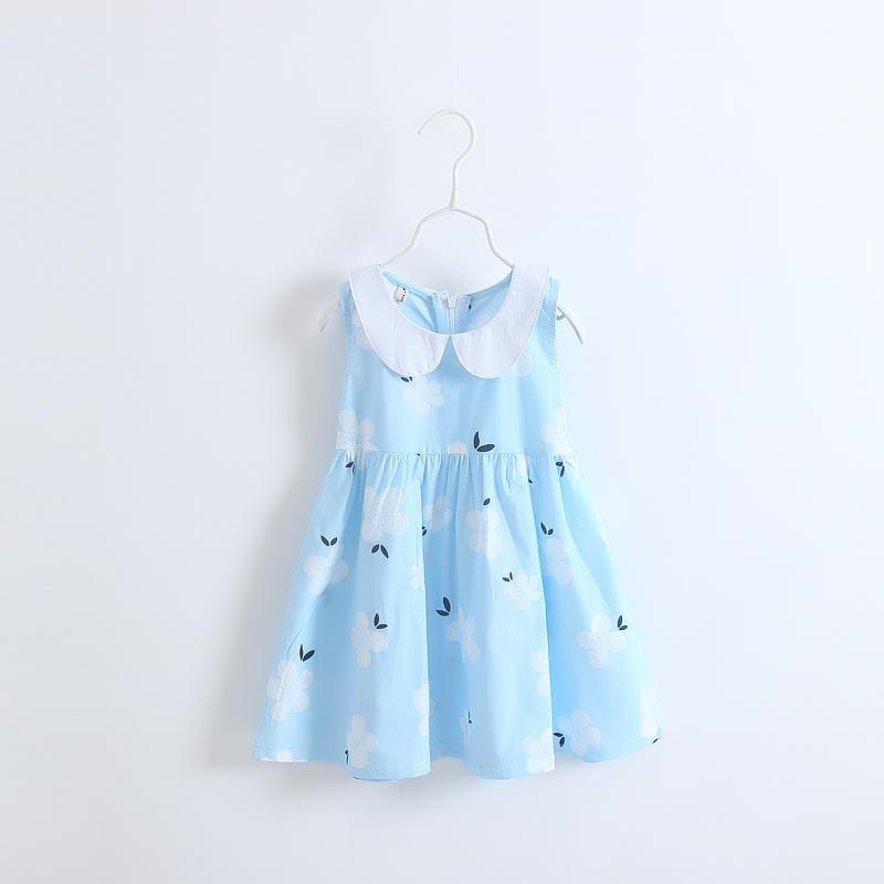 2016夏季短袖純棉女童連衣裙童裝夏裝兒童裙子 中小童無袖公主裙