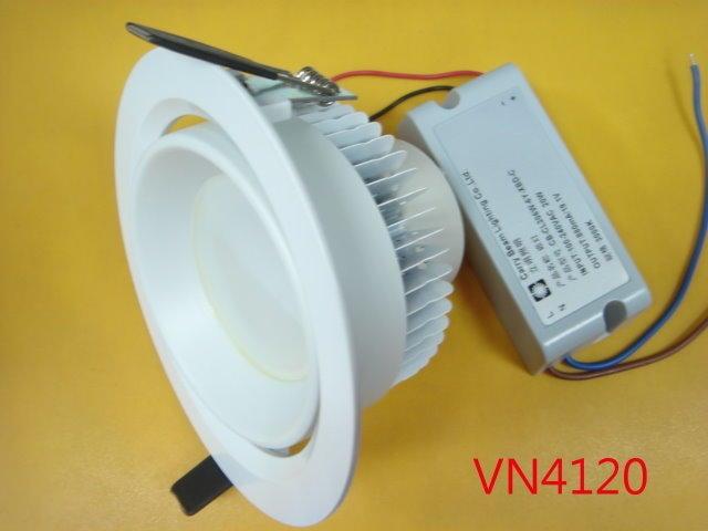 【全冠】可調角度 20W/3000K/全電壓 6顆燈 黃光CL306W LED筒燈 崁燈 庭園燈 投射燈 (VN4120