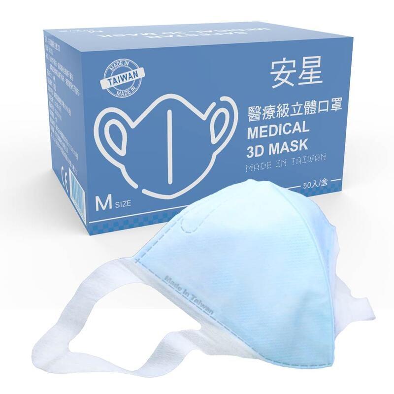安星立體口罩SafeStar Medical 3D Mask (S/M/L) 淺藍 50入裝