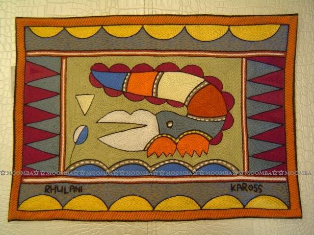 ☆MOOMBA☆ South Africa 南非 KAROSS 品牌 手工 繡花 動物 花卉 刺繡 厚 布質 餐墊 HAND EMBROIDER PADDED PLACEMATS #771