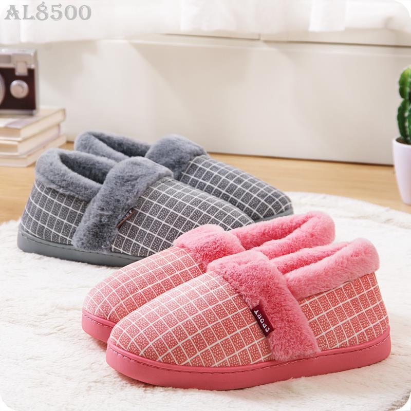 (♥)冬季包跟棉拖鞋厚底防滑毛絨棉鞋居家保暖毛拖鞋室內男女地板棉拖