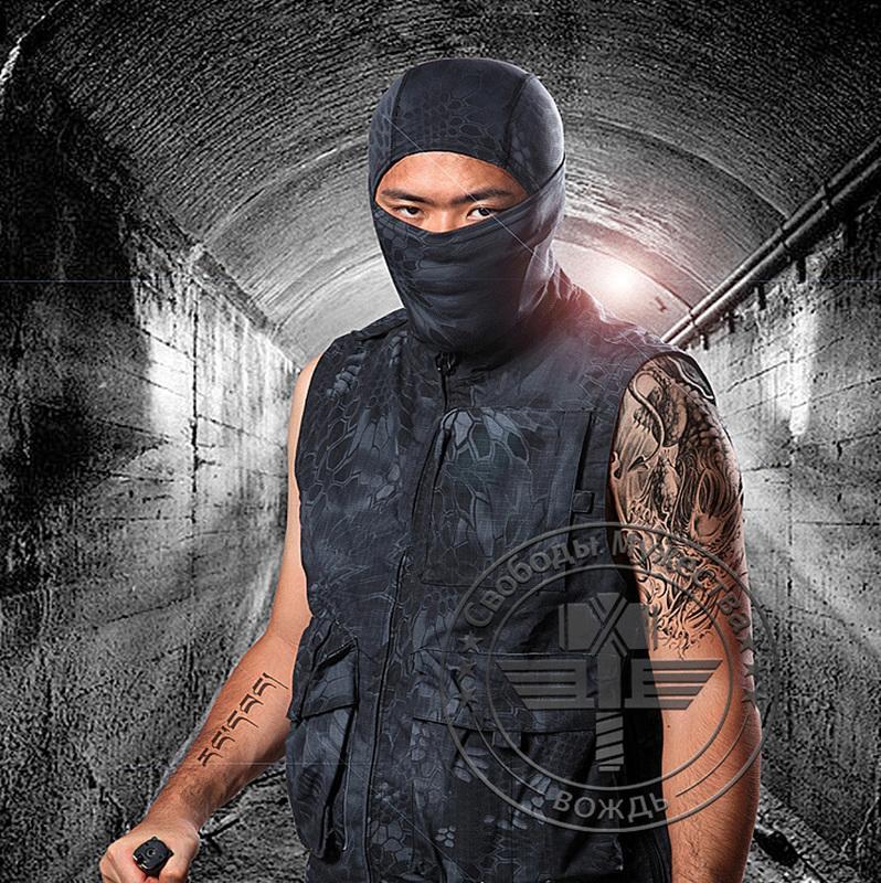 ~221~戰術頭套 響尾蛇蟒紋面罩 迷彩面罩 忍者頭套 CS頭套 野戰 叢林戰 自行車 腳踏車 機車防曬 防風 防寒