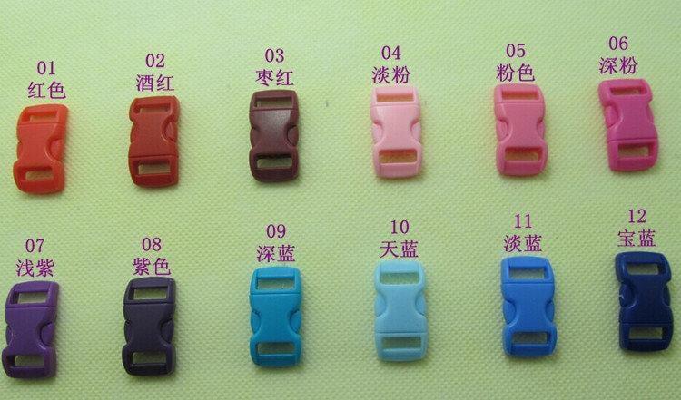 西鄉網貨~~弧型1.1公分插扣、約10mm~11mm插扣、彩色插扣、小插扣、寵物項圈用、寵物扣、手鍊、邊啟旁開扣(紫色)