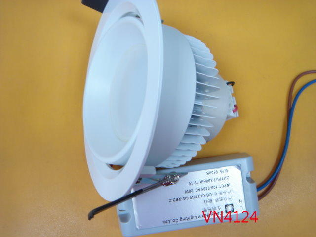 【全冠】可調角度 20W/5500K CL306W 6顆燈 白光LED筒燈 崁燈 庭園燈 投射燈 (VN4124)