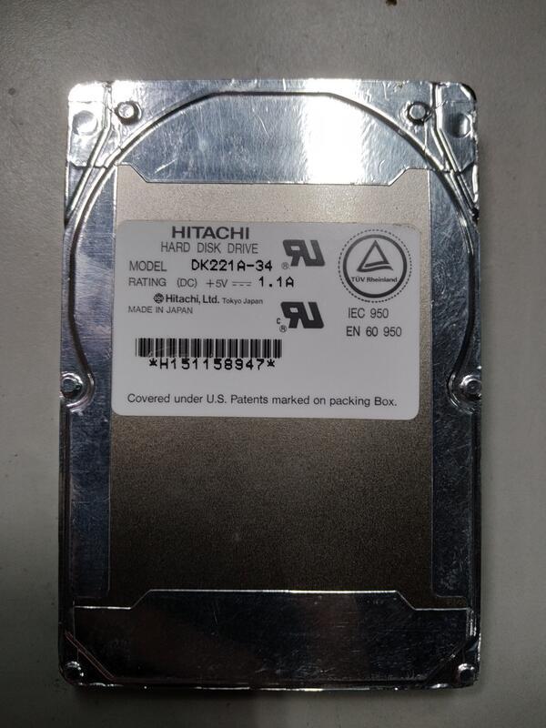 (Yong27) 故障 2.5吋IDE硬碟 Hitachi 340Mb /DK221A-34 /運轉會唱歌/抓不到