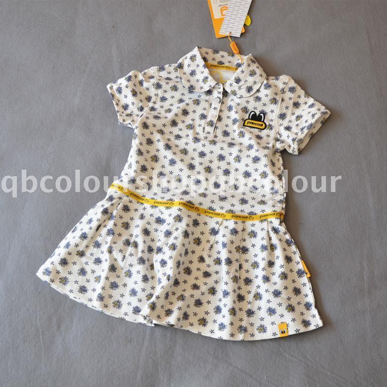 16年新款品牌專櫃女童寶寶純棉連衣裙網球裙短袖珠地棉 夏季