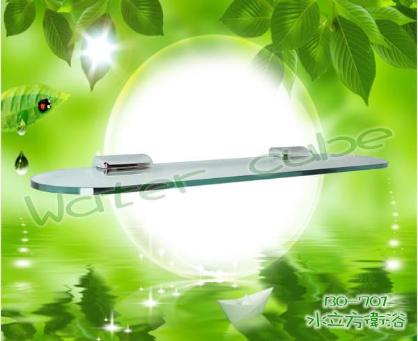 圓弧玻璃置物平台BO-701水立方衛浴