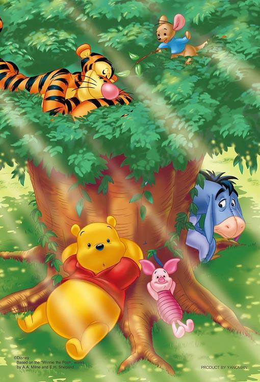日本拼圖.迪士尼 Winnie the Pooh 小熊維尼 大樹森林 99片 拼圖,99-457