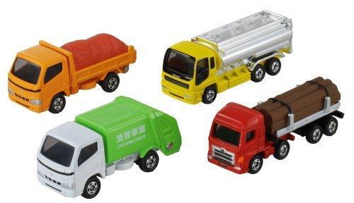 TOMICA 日版 多美 絕版 運搬車 聯結車 垃圾車 貨車 油罐車 一組4台 LUCI日本代購