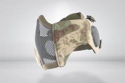 RST 紅星 - CM1面罩 武士系列 (護耳版) 護嘴 鐵網面具貼腮 護臉 A-TACS/FG 廢墟綠 05099
