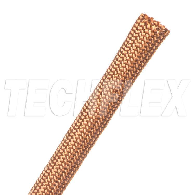 1公尺 - 美國Techflex NMN系列 銅色 柔軟 尼龍布料材質 100%覆蓋 無擴張性 線材套管