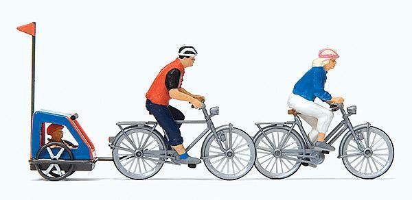 現貨 Preiser 10638 HO規 全家腳踏車出遊10