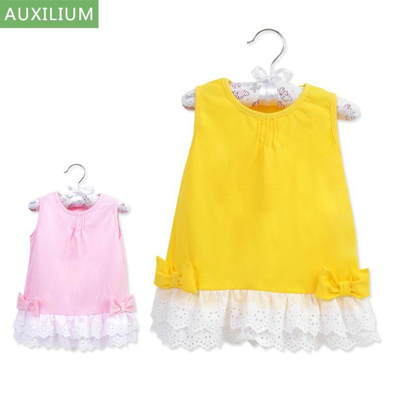 奧嬰兒純棉吊帶裙夏季裙子衣服寶寶薄款公主裙女童背心連衣裙