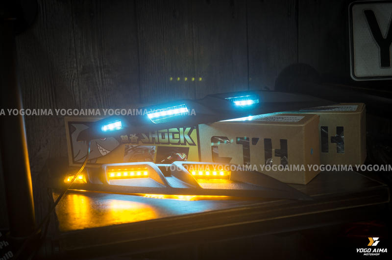 【優購愛馬】CTH FORCE 鯊客  FORCE 寬體 LED 方向燈 空力套件 日行燈 直上 免鑽孔 鯊魚鰭