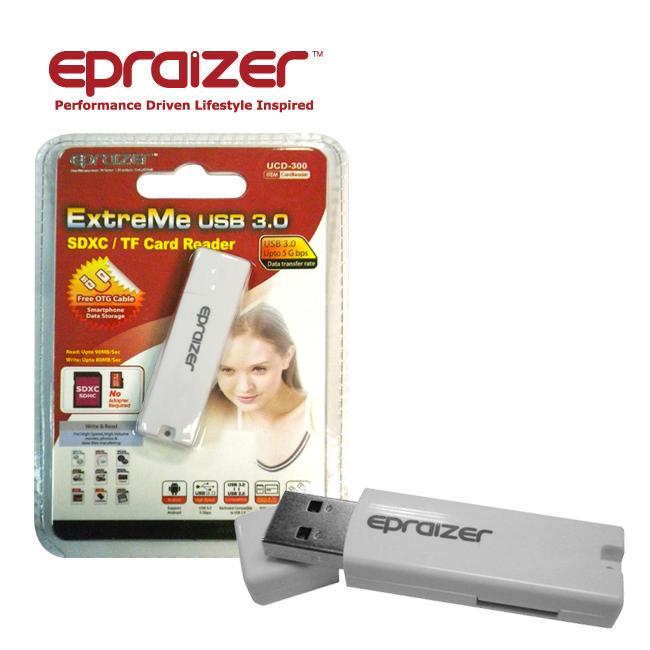 Epraizer ExtreMe USB3.0 手機專用讀卡機 (UCD-300) 附贈OTG CABLE白